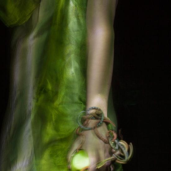 ritratto fotografico in light painting eva di donne e di dee