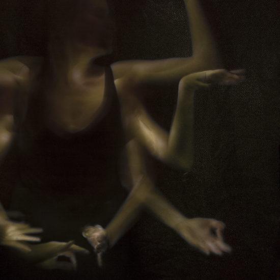 ritratto fotografico in light painting kali di donne e di dee