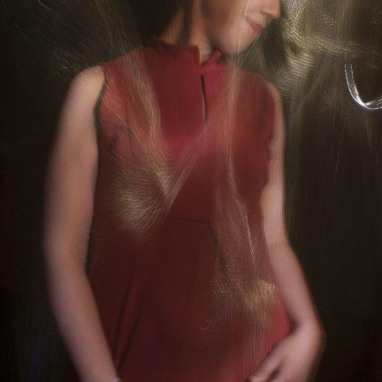 ritratto fotografico in light painting atena di donne e di dee