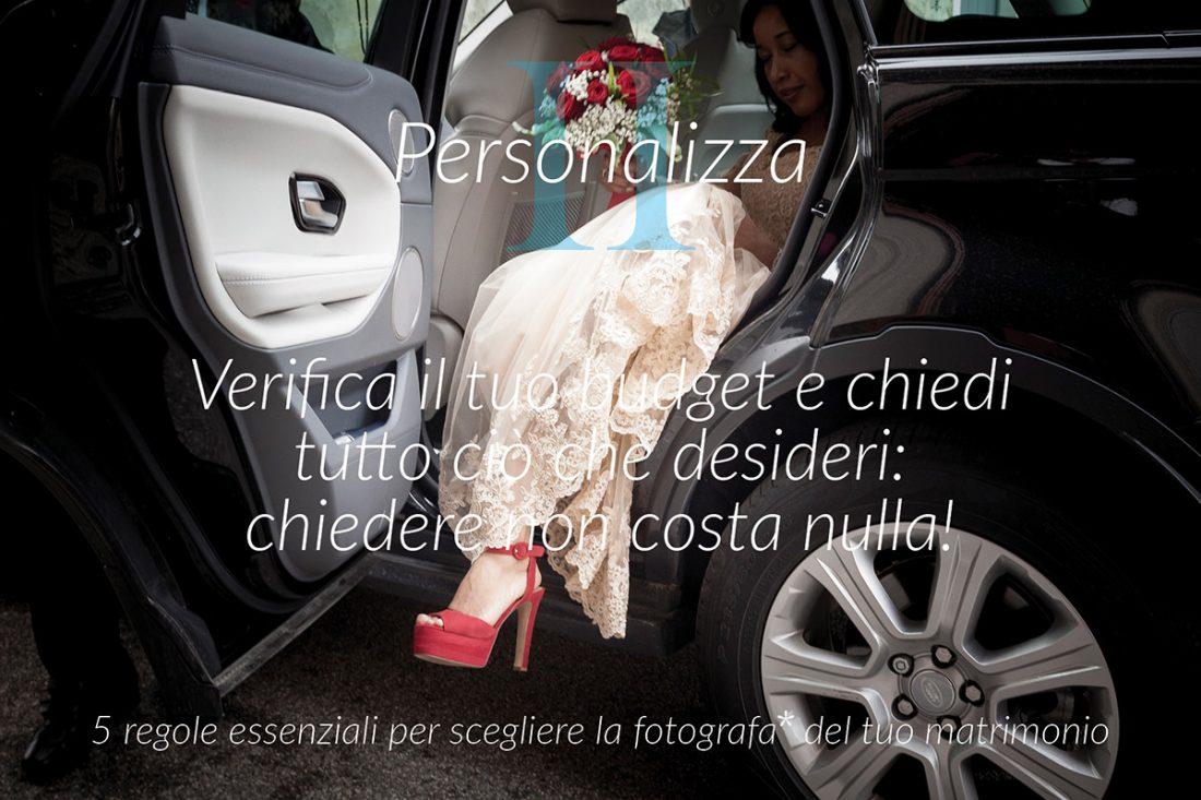 Regola II – budget personalizzato per il matrimonio alle bonicalzi