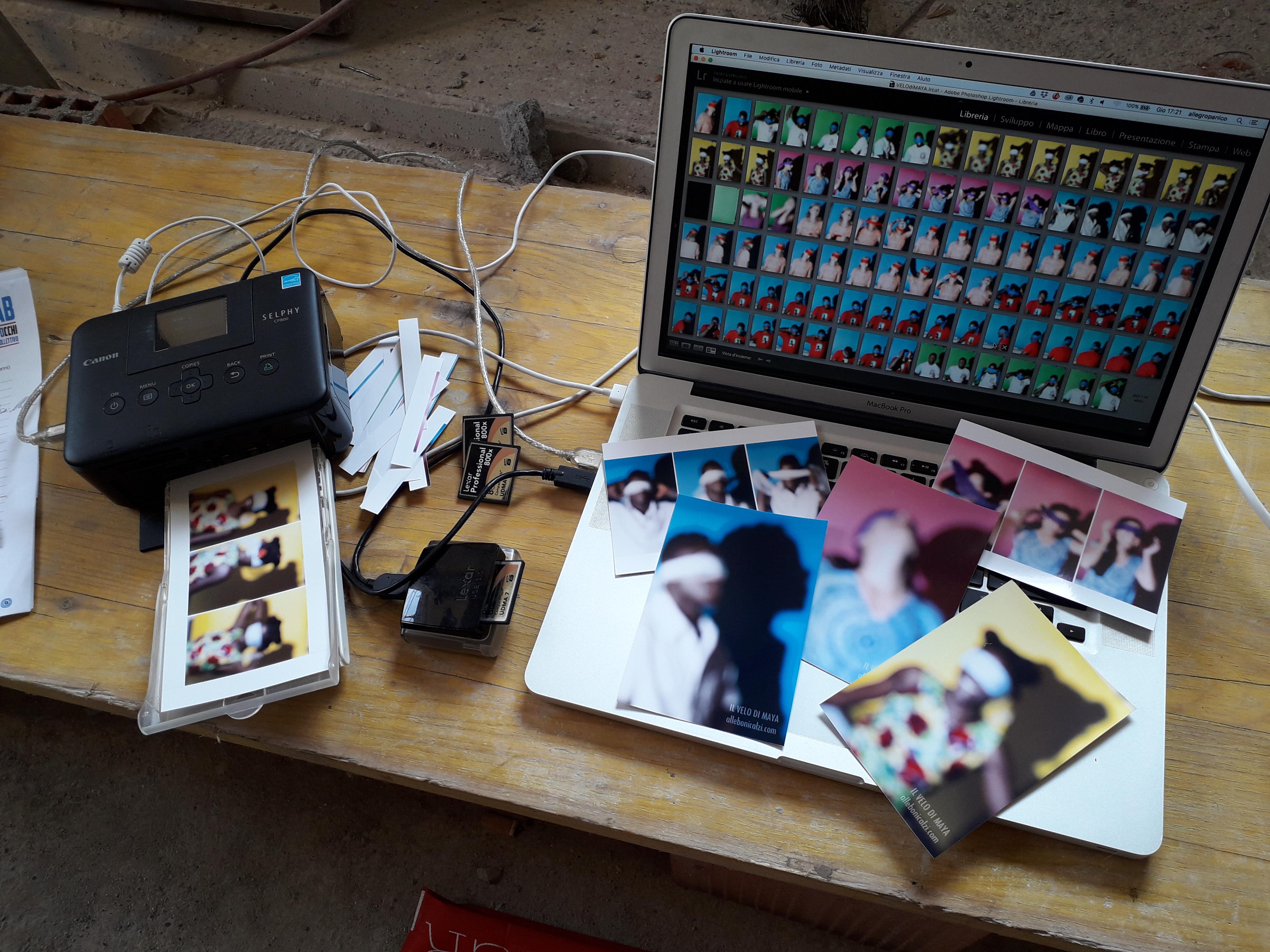mostra fotografica, Il velo di maya, backstage, Garzola, alle bonicalzi