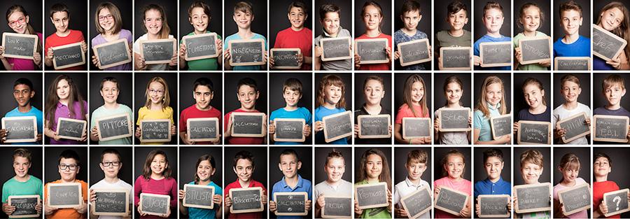 Foto di classe laboratorio fotografico per bambini e bambine ragazzi e ragazze alle bonicalzi il mio lavoro, my job
