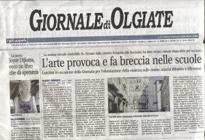 Indicibile II, Giornale di Olgiate,